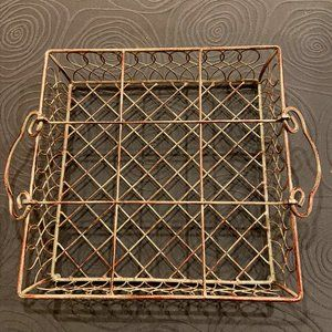 Wire metal basket/tray